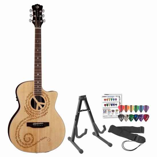 白菜价!历史新低!Luna Guitars OCL-PCE Oracle Peace 电吉他套装1.5折 164.94加元包邮!