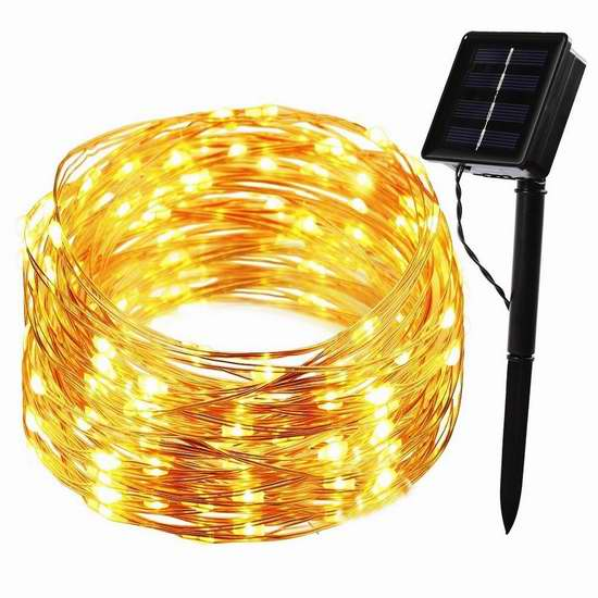 手慢无!B-right 200 LEDs 太阳能户外灯串 12.99加元限量特卖!