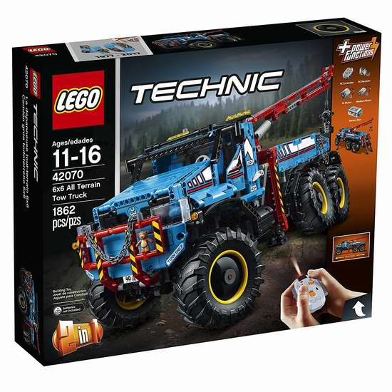 LEGO 乐高 42070 科技系列 6X6全时驱动牵引卡车(1862pcs)6.9折 254.99加元包邮!