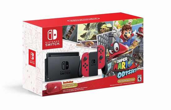 Nintendo 任天堂 Switch 便携式游戏机+《超级马里奥 奥德赛》套装 499.99加元包邮!