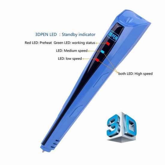 Kuman 100C 第三代3D打印笔5.5折 45.89加元限量特卖并包邮!
