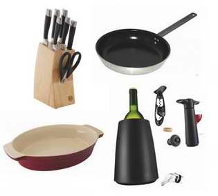 精选174款锅具、刀具、杯碟等厨房用品清仓销售,额外再打5折!