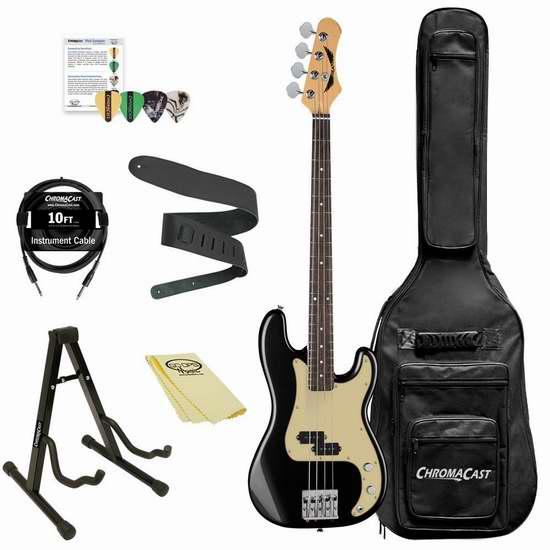 白菜价!历史新低!Dean Guitars Paramount Bass 电吉他套装2.2折 208.41加元包邮!