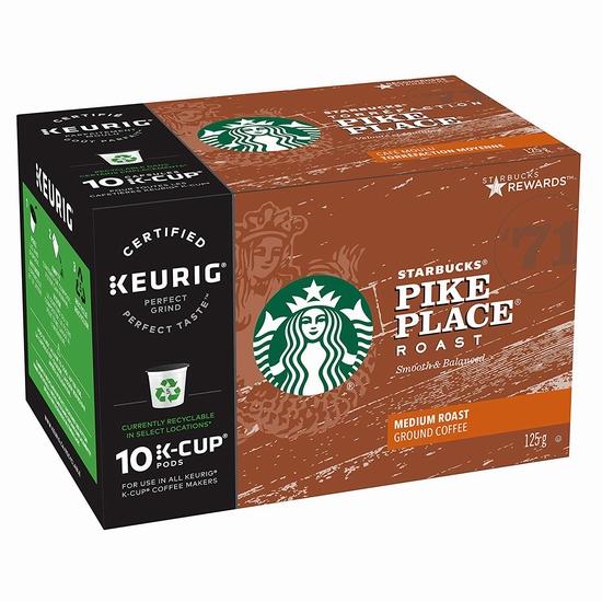 历史新低!Starbucks 星巴克 Pike Place Roast K-Cup 咖啡胶囊60粒 47.82加元包邮!