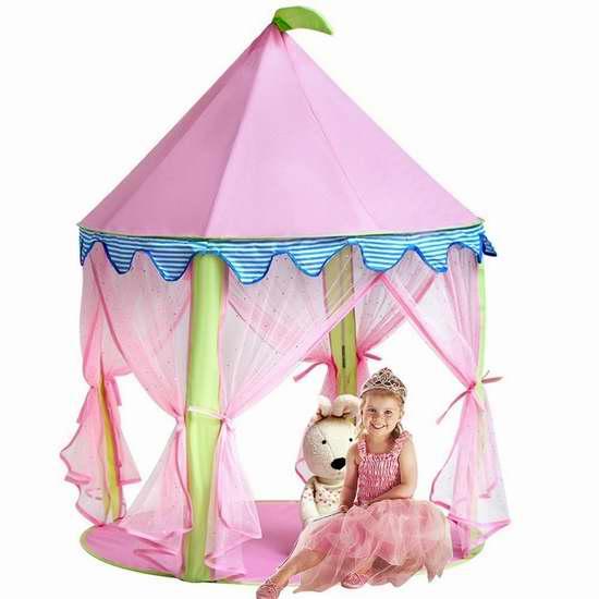 KINDEN 粉红超美公主帐篷4.3折 25.99加元!