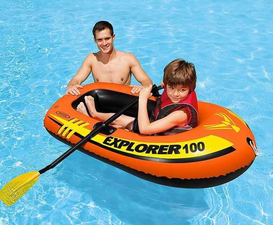 白菜价!Intex Explorer 100 单人充气船+充气泵套装3.6折 8.2加元清仓!