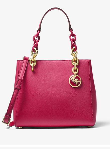 Michael Kors Cynthia 两用手提包 蔓越莓色 196.8加元,原价 328加元,包邮