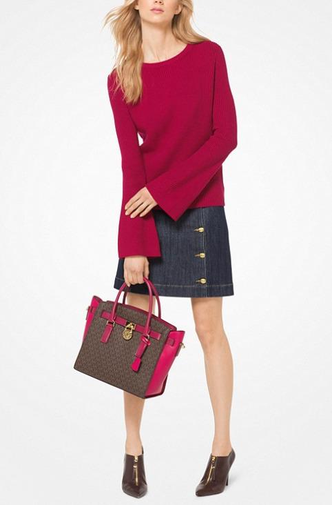 Michael Kors Cotton-Blend喇叭袖纯棉混纺上衣 96.75加元,原价 165加元