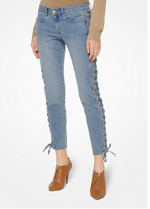 Michael Kors 小性感 绑带紧身牛仔裤 149.25加元,原价 295加元,包邮