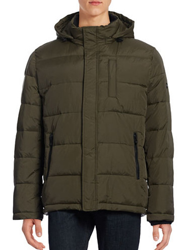 CALVIN KLEIN Quilted 男士防水河豚外套 101.25加元,原价 270加元,包邮