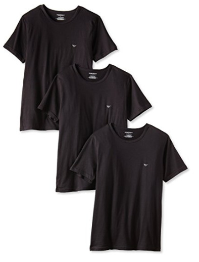 Emporio Armani阿玛尼Crew男士纯棉T恤3件套 47加元(L码)+包邮!