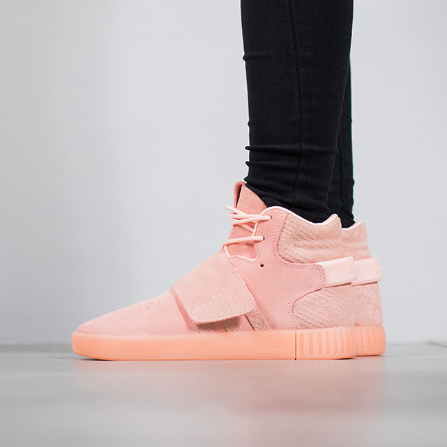 Adidas 阿迪达斯 Originals Tubular Invader 大童鞋 粉色款 32.47加元,原价 95加元