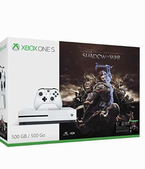 Xbox One S 500GB 游戏机+《战争影子》套装 279.99加元,原价 349.99加元,包邮