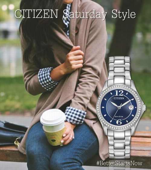 Citizen 西铁城女士 FE1140-86L 水晶腕表 141.19加元,原价 191.99加元,包邮