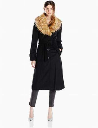 Steve Madden 长款单排扣羊毛混纺大衣 110.1加元(L码),原价 157.23加元,包邮