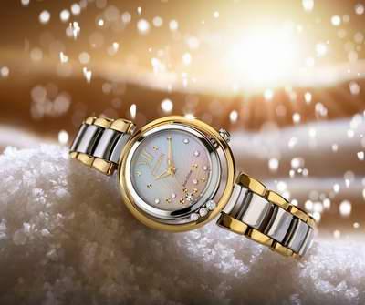 近史低价!Citizen 西铁城 EM0324-58D L 光动能 女士镶钻腕表/手表 472.5加元包邮!