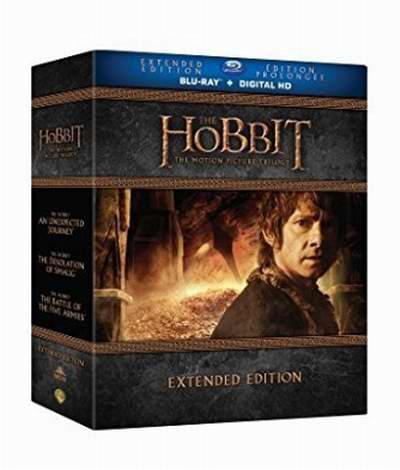 The Hobbit Trilogy 霍比特人三部曲加长版 43.99加元,原价 65.18加元,包邮