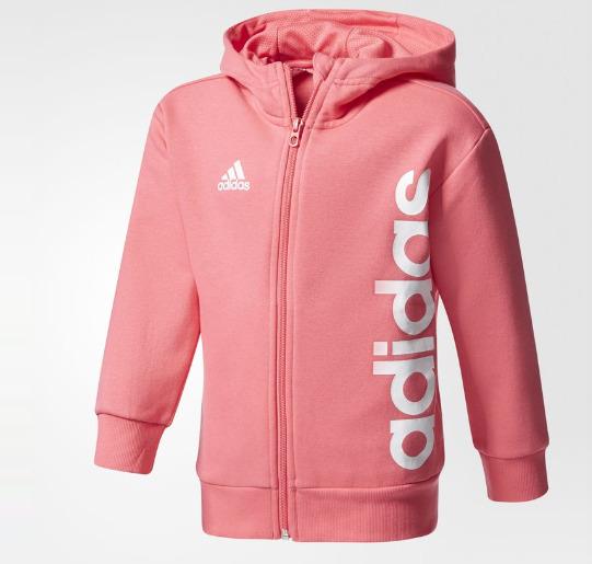 Adidas 阿迪达斯 KB Training 儿童粉色拉链式连帽衫 17.47加元,原价 50加元