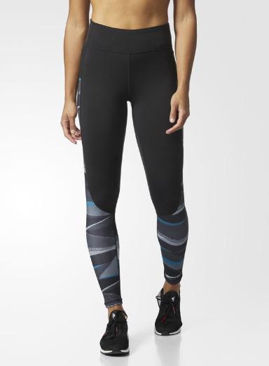 Adidas 阿迪达斯Performer 高腰印花条纹运动裤 27.47加元,原价 80加元