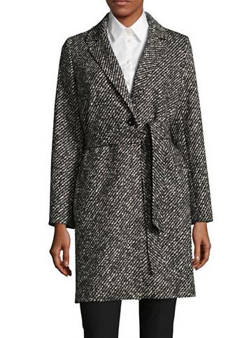 WEEKEND MAX MARA Gorizia 羊毛条纹大衣 375.75加元,原价 835加元,包邮