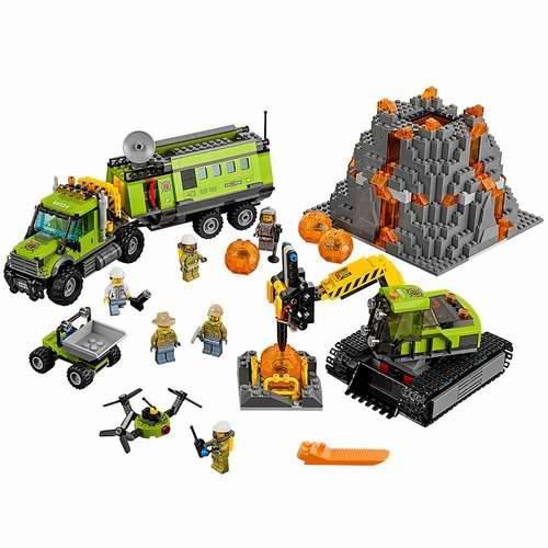 Lego 乐高 City城市系列 60124 火山探险基地 104.9加元,原价 149.99加元,包邮