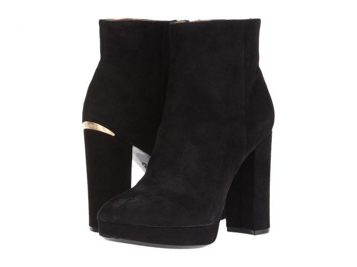 瞬间提升气质!CALVIN KLEIN Martha黑色高跟短靴 105加元,原价 280加元,包邮