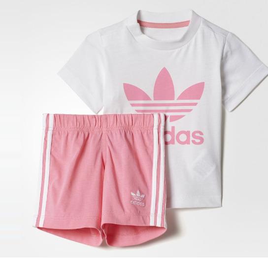 有型又有范!Adidas 阿迪达斯 婴儿三叶草套装 17.47加元(2色),原价 45加元