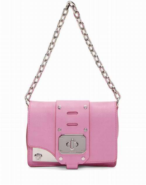 Versace 范思哲 Stardust 粉色宽肩带/链条斜挎方包 6.7折 1333加元,原价 1990加元,包邮