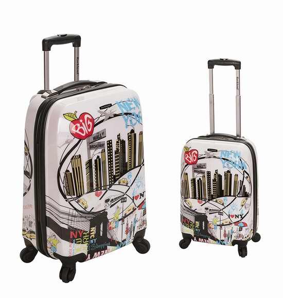 金盒头条:Rockland F215 时尚都市 20/28寸 轻质硬壳拉杆行李箱2件套 139.66-143.79加元包邮!两款可选!