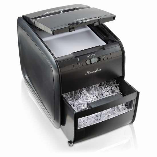 金盒头条:Swingline Stack and Shred 60X 自动送纸 碎纸机4.2折 99.99加元包邮!