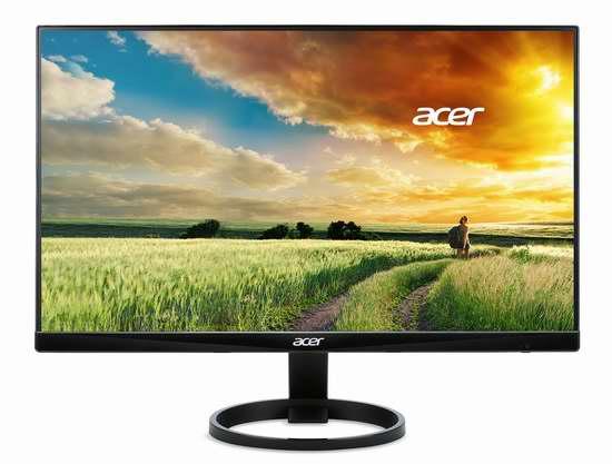 历史最低价!Acer 宏碁 R240HY bidx 23.8寸IPS宽屏 滤蓝光护眼 液晶显示器6.2折 149.99加元包邮!