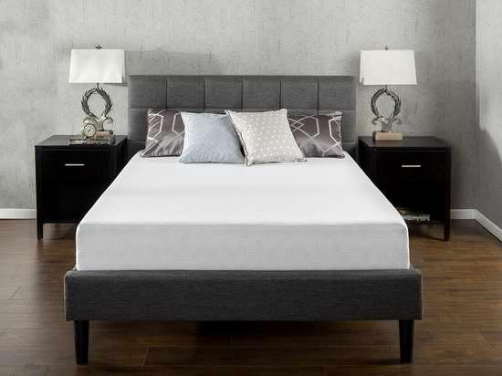 历史新低!Zinus 10英寸绿茶记忆海绵Queen床垫 231.56加元包邮!