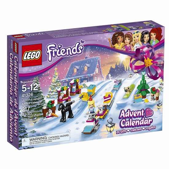 历史新低!Lego 乐高 41326 好朋友系列 2017圣诞倒数日历积木(217pcs)7.5折 29.86加元!