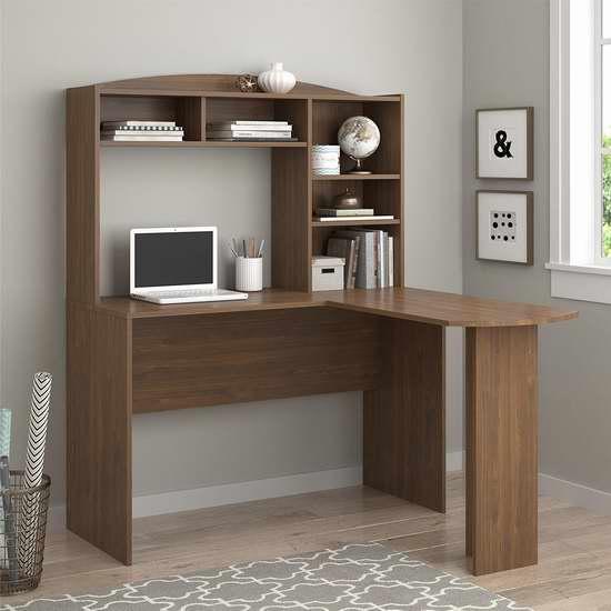历史新低!Altra Furniture Sutton 核桃色 L型书桌/办公桌 138.98加元包邮!