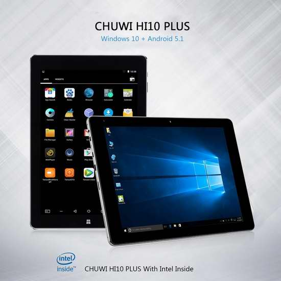 CHUWI Hi10 Plus 10.8寸 二合一平板电脑(4G/64G) 175.65-175.87加元限量特卖并包邮!两色可选!