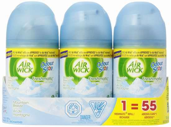 手慢无!Air Wick 喜诗 空气清新剂补充装3件套 0-0.1加元清仓!