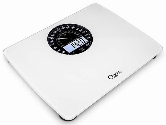 历史新低!Ozeri Rev 数字/机械双模式 体重秤4.3折 18.18加元!