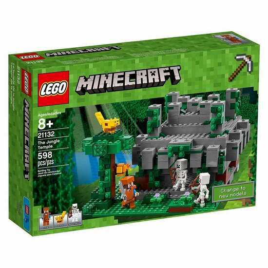 金盒头条:历史新低!LEGO 乐高 21132 我的世界创意系列 丛林寺庙(598pcs)7折 45.35加元包邮!