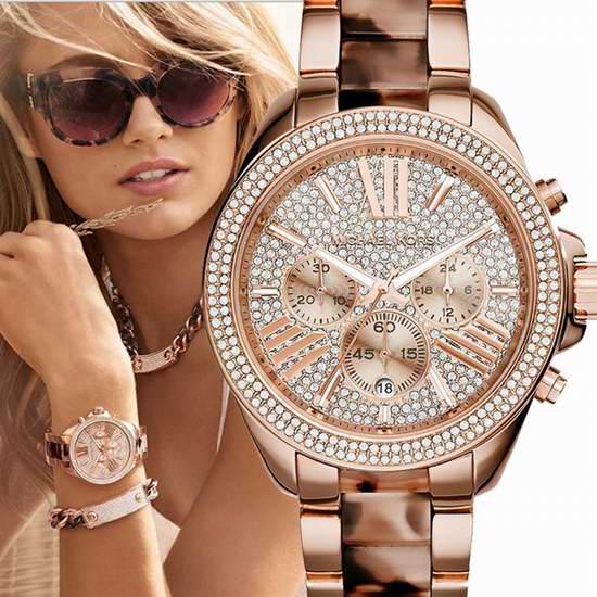 历史新低!Michael Kors MK6096  女士时尚镶钻三眼计时腕表/手表4折 150.82加元包邮!