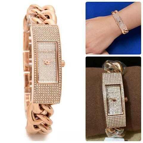 历史新低!Michael Kors MK3307 玫瑰金 女士水晶腕表/手表4.7折 105.87加元包邮!