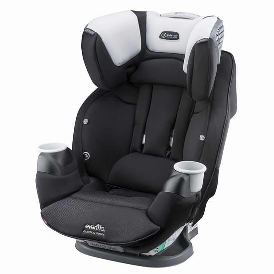 历史新低!Evenflo Platinum SafeMax 成长型儿童汽车安全座椅4.9折 195.99加元包邮!会员专享!