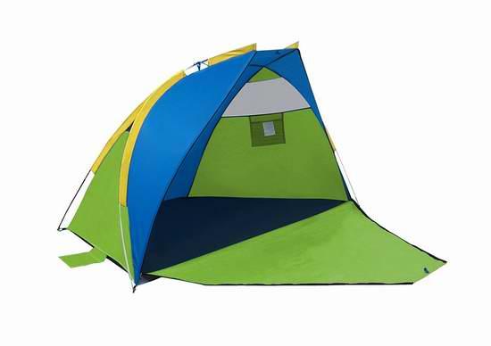 逆季清仓!历史新低!GigaTent Bct 005 二合一 沙滩遮阳帐篷/封闭更衣室4.3折 18.57加元!