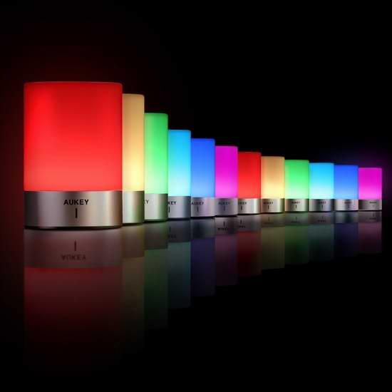 历史新低!AUKEY LT-ST21-CA 多用途触控式 可变色 护眼台灯/床头灯/氛围灯4.6折 31.99加元包邮!