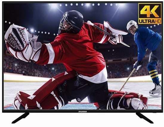 历史新低!Sylvania SLED5550-UHD 55寸 4K超高清LED液晶电视6.3折 379.99加元包邮!