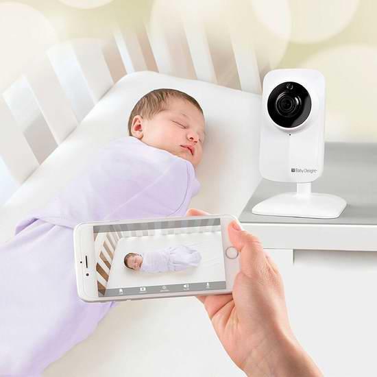 白菜价!历史新低!Baby Delight bd4040 Hd Wifi 无线高清婴儿监视器2.5折 37.69加元清仓并包邮!
