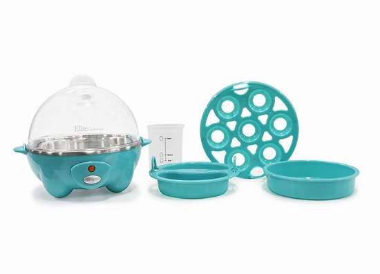 历史新低!Elite Cuisine EGC-007T 多功能家用煮蛋器/蒸煮器4.7折 18.74加元!3色可选!