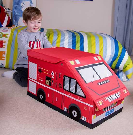 白菜价!历史新低!Clever Creations 加大号消防车造型 玩具收纳盒1.7折 6.09加元清仓!
