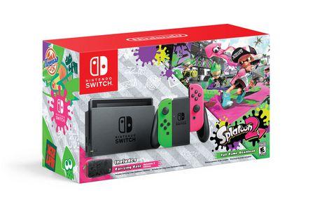 黑五专享!Nintendo 任天堂 Switch 便携式游戏机+《喷射战士2》套装 499.99加元包邮!