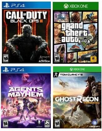 黑五专享!精选大量 PS4、Xbox One、3DS 视频游戏全部仅售29.96加元!