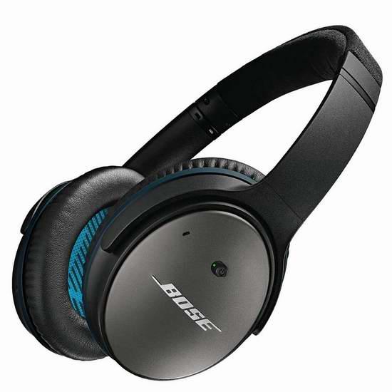 网购周专享:历史最低价!Bose QuietComfort 25 主动降噪 头戴式耳机4.5折 149加元包邮!Apple/Android两款可选!